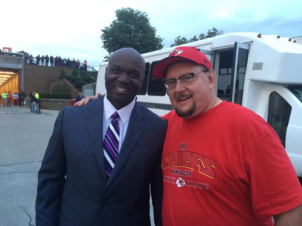 Bill Nagy (left) with Todd Bowles